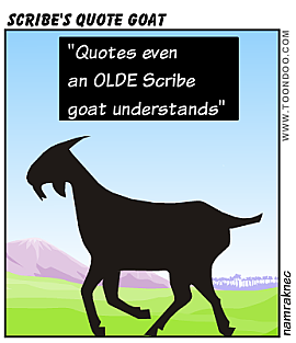 Scribe quote goat
